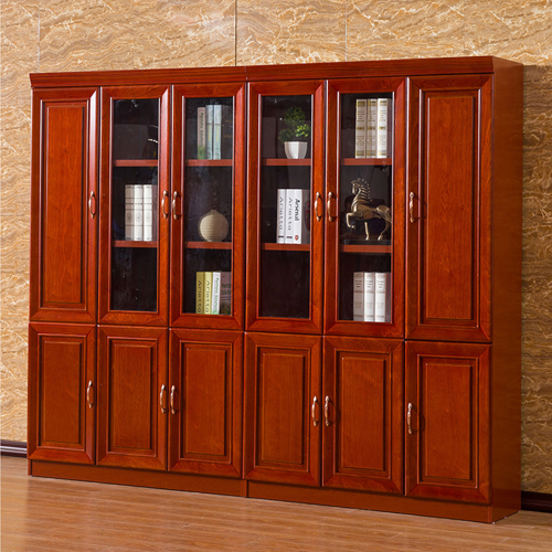 Solid Wood Office File Cabinet Wardrobe Image 1
