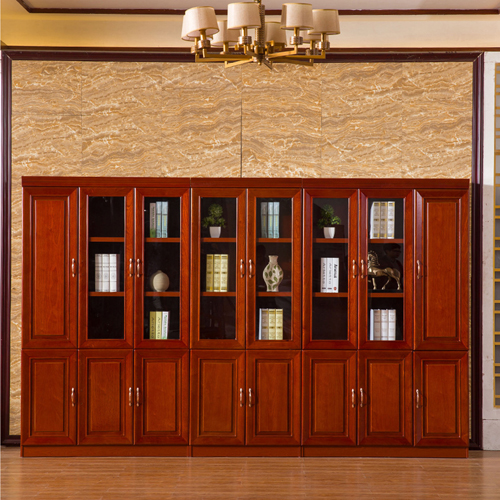 Solid Wood Office File Cabinet Wardrobe Image 2