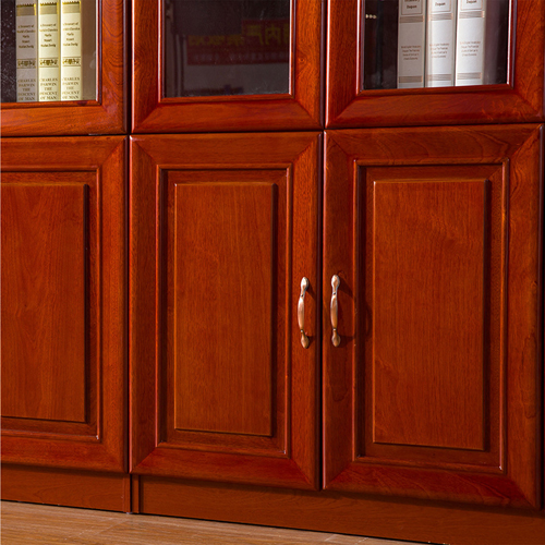 Solid Wood Office File Cabinet Wardrobe Image 5