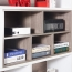 Storage Wooden Bookcase Filing Cabinet Image 2