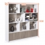Storage Wooden Bookcase Filing Cabinet Image 7