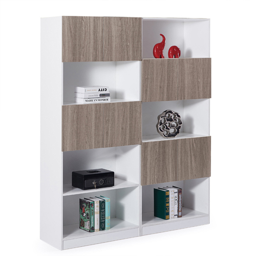 Wooden Cabinet File Storage with Bookshelf