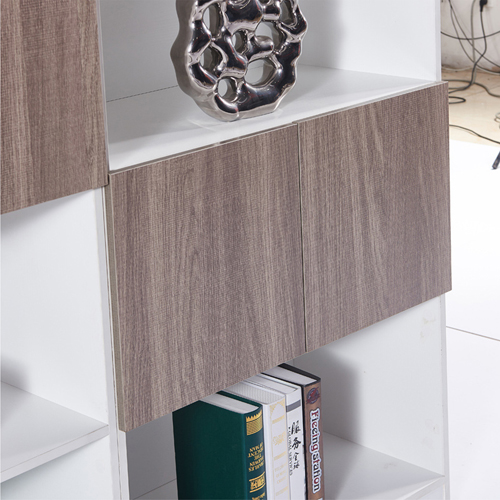 Wooden Cabinet File Storage with Bookshelf Image 3