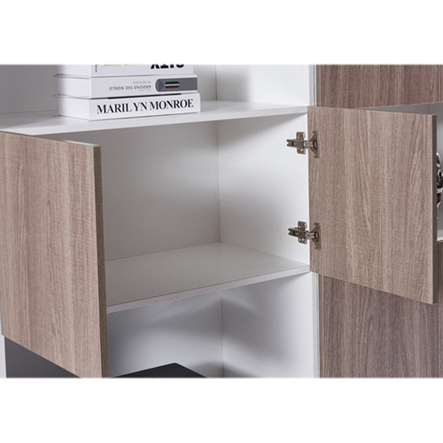 Wooden Cabinet File Storage with Bookshelf Image 5