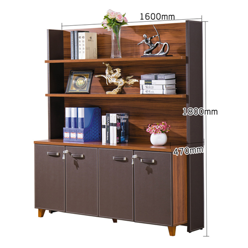 Wooden Office Bookcase Multi-function Cabinet Image 10