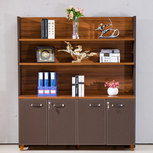 Wooden Office Bookcase Multi-function Cabinet Image 1