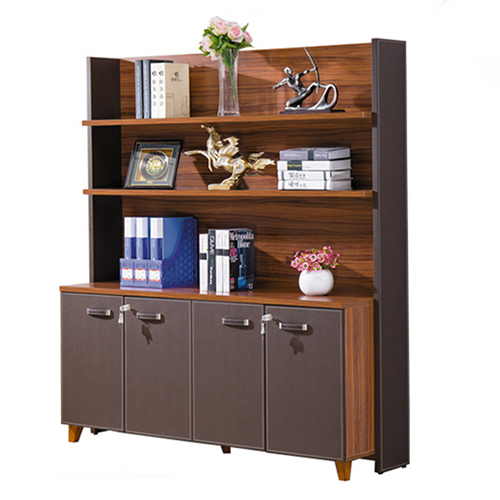 Wooden Office Bookcase Multi-function Cabinet Image 3