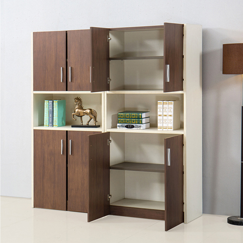 Fashion Wooden Bookcase Locker Cabinet Image 1