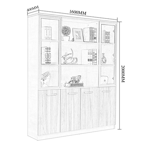 Modular Office Bookcase Display Cabinet Image 8