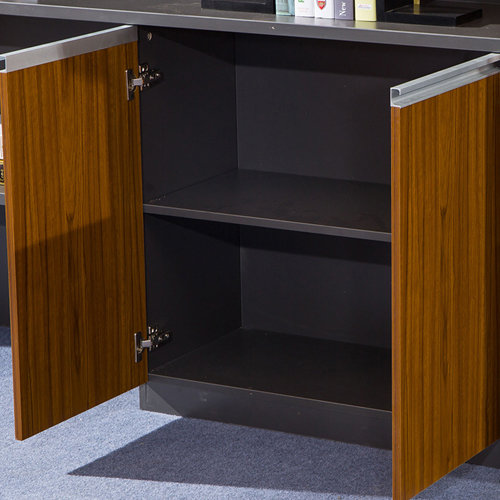 Kenichi Office Cabinet with Display Bookcase Image 9