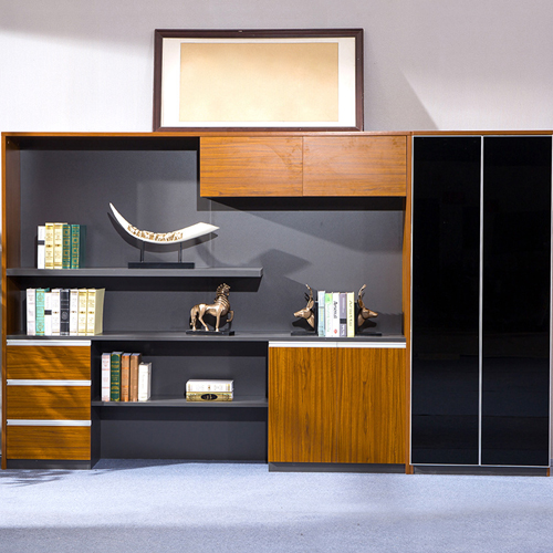 Kenichi Office Cabinet with Display Bookcase Image 1