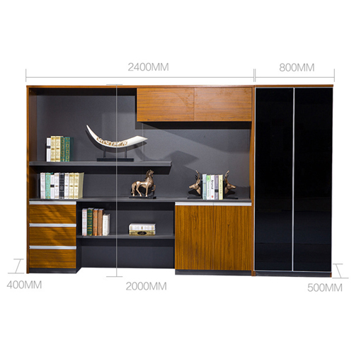 Kenichi Office Cabinet with Display Bookcase Image 19
