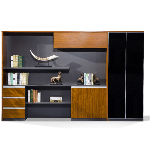 Kenichi Office Cabinet with Display Bookcase
