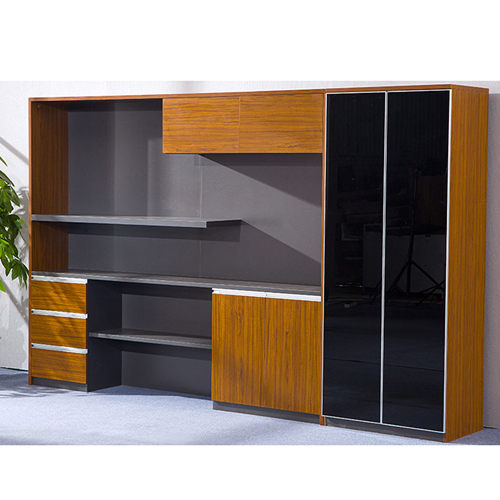 Kenichi Office Cabinet with Display Bookcase Image 4