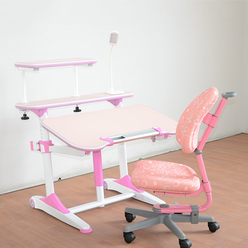 Integrated Height Adjustable Study Table With Shelf Image 9
