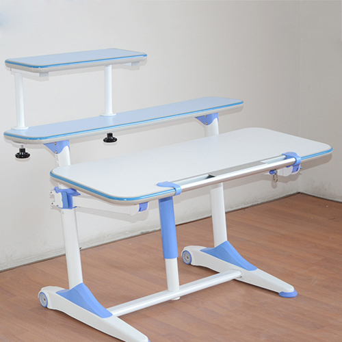 Integrated Height Adjustable Study Table With Shelf Image 10