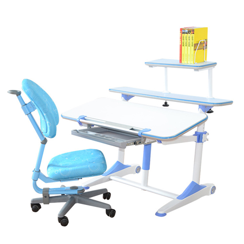 Integrated Height Adjustable Study Table With Shelf Image 11