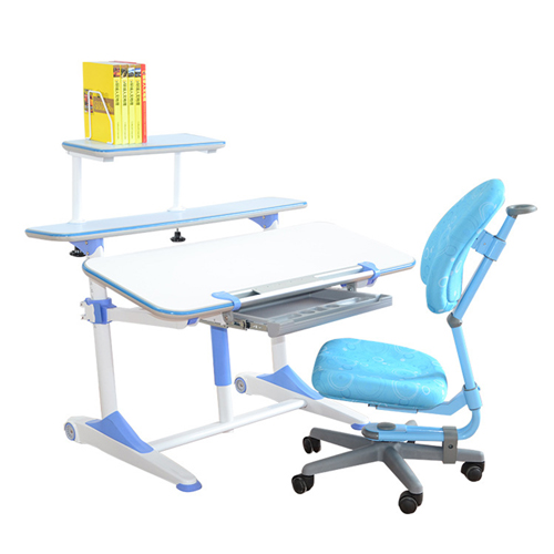 Integrated Height Adjustable Study Table With Shelf