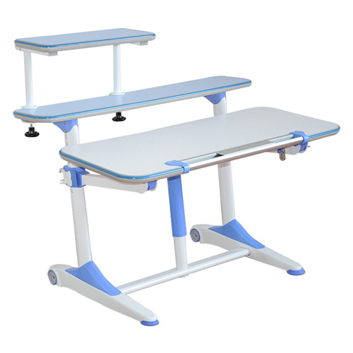 Integrated Height Adjustable Study Table With Shelf Image 2