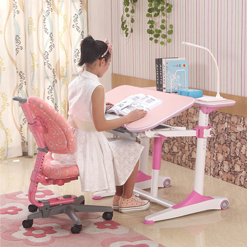 Integrated Height Adjustable Study Table With Shelf Image 4