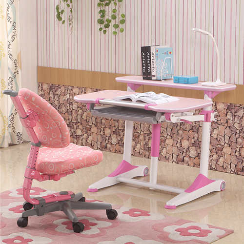 Integrated Height Adjustable Study Table With Shelf Image 6