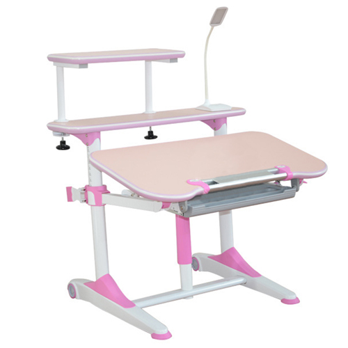 Integrated Height Adjustable Study Table With Shelf Image 8