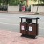 Outdoor Steel Wooden Trash Bin Image 6