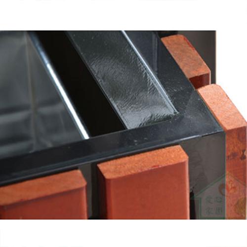 Outdoor Steel Wood Double Sanitation Trash Image 17