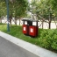 Outdoor Steel Wood Double Sanitation Trash Image 4