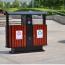 Outdoor Steel Wood Double Sanitation Trash Image 6