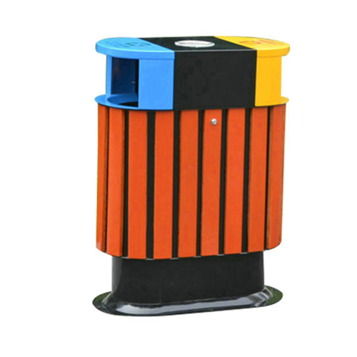 Wooden Outdoor Waste Bin with Ashtrays