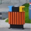 Wooden Outdoor Waste Bin with Ashtrays Image 4