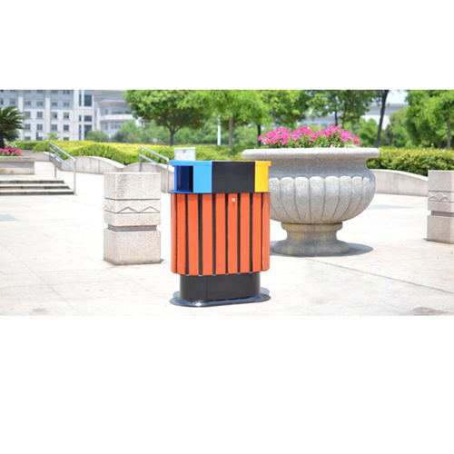 Wooden Outdoor Waste Bin with Ashtrays Image 7