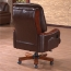 Reclining Backrest Office Chair With Wood Footbase Image 3