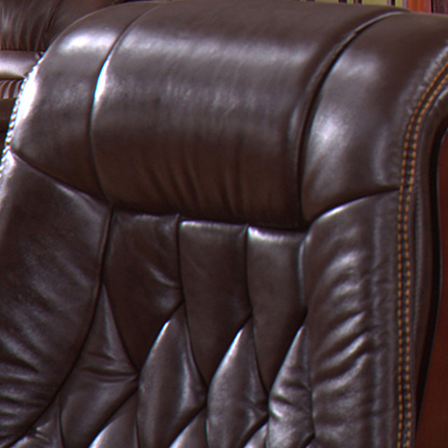 Reclining Backrest Office Chair With Wood Footbase Image 5
