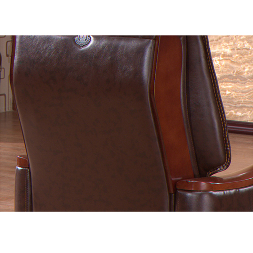 Reclining Backrest Office Chair With Wood Footbase Image 7