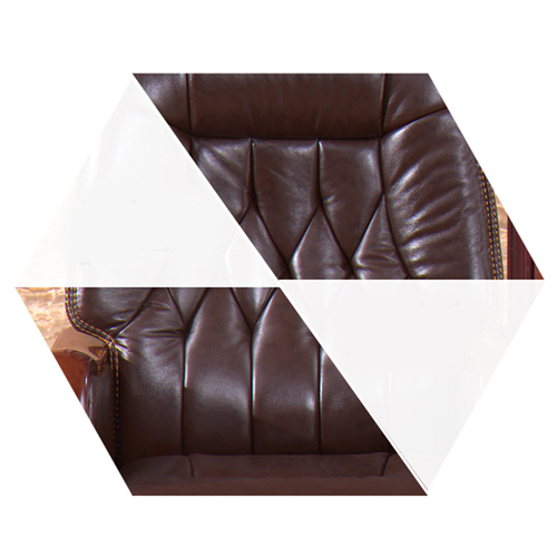 Reclining Backrest Office Chair With Wood Footbase Image 8