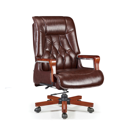 Executive Reclining Leather Office Chair Image 1