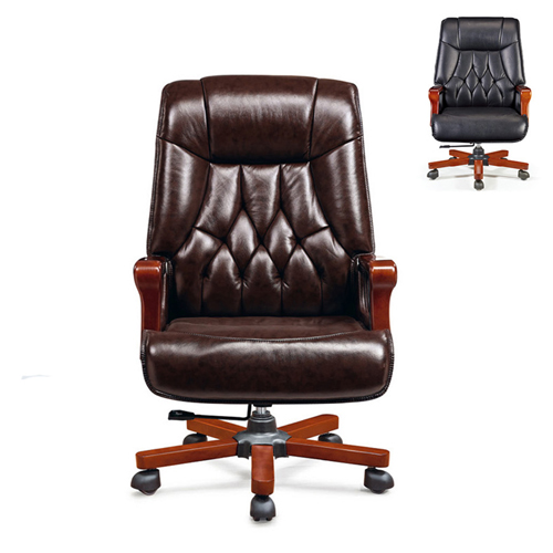Executive Reclining Leather Office Chair Image 2