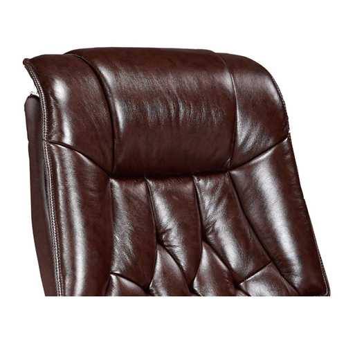 Executive Reclining Leather Office Chair Image 3