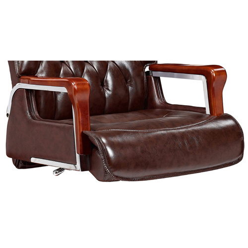 Executive Reclining Leather Office Chair Image 4