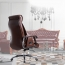 Deluxe Traditional Boss Chair with Rubber Wheel Image 9