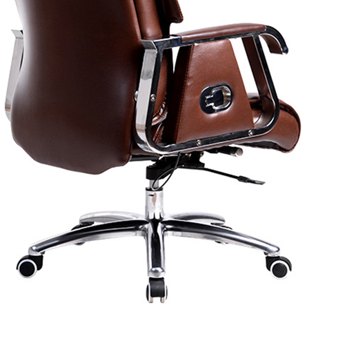 Deluxe Traditional Boss Chair with Rubber Wheel Image 12