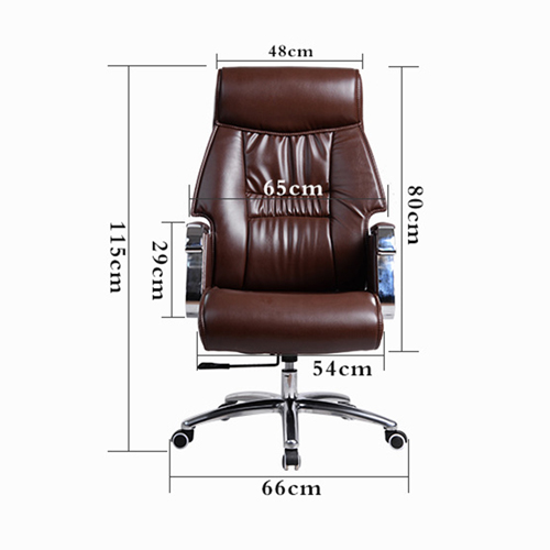Deluxe Traditional Boss Chair with Rubber Wheel Image 13