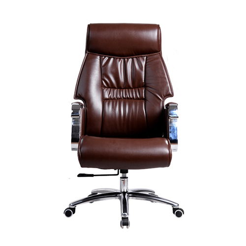 Deluxe Traditional Boss Chair with Rubber Wheel Image 1