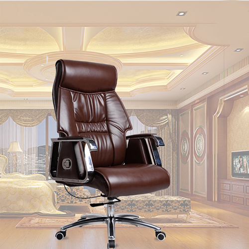 Deluxe Traditional Boss Chair with Rubber Wheel Image 7