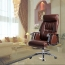 Deluxe Traditional Boss Chair with Rubber Wheel Image 8