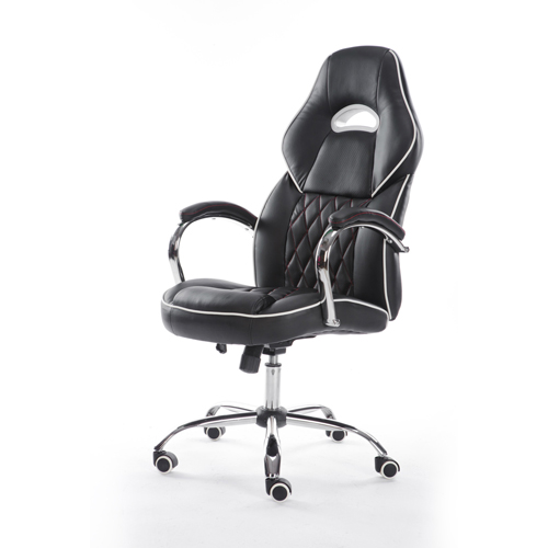 Executive Headrest Leather Modern Chair Image 1