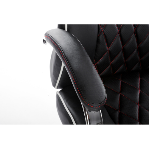 Executive Headrest Leather Modern Chair Image 5