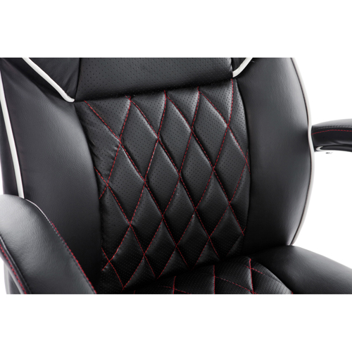 Executive Headrest Leather Modern Chair Image 6